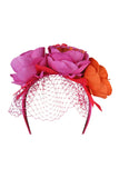Camilla Fascinator Pink/Orange