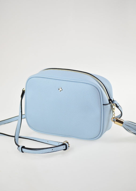Gracie Crossbody Bag pastel Blue Pebble