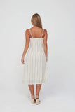 GOLDIE Dress - Gold Stripe