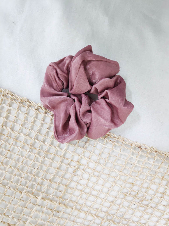 Satin Scrunchie Terracotta