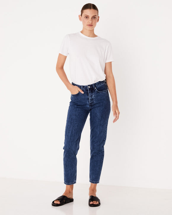 High Waisted Rigid Jean Tasman Blue
