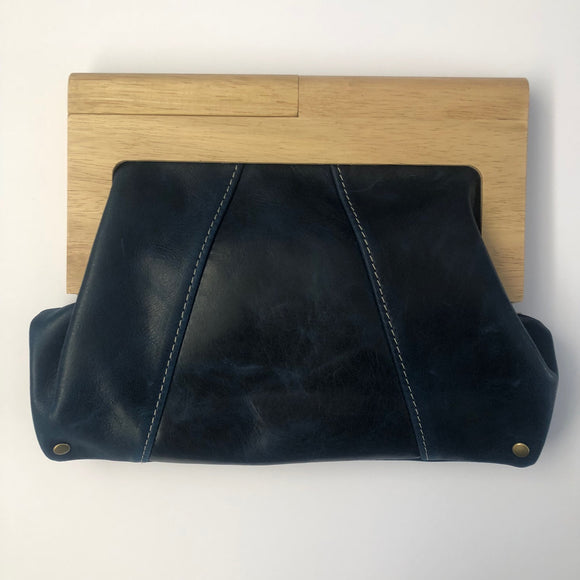 Ocean Leather Timber Clutch