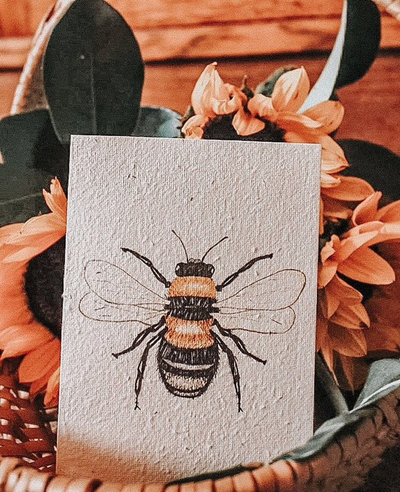 Hello Petal Card- Honey Bee