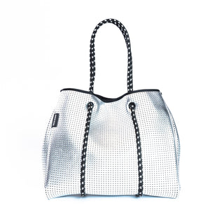 The Sterling Metallic Silver Prene Bag