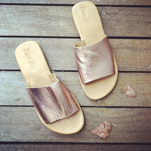 Leather Slide Rose Gold