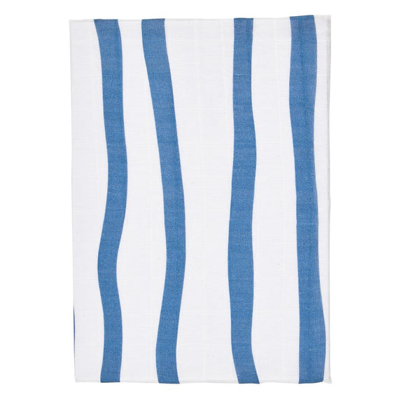 Navy Stripe Baby Swaddle