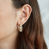 Carmen Flower Hoops Gold