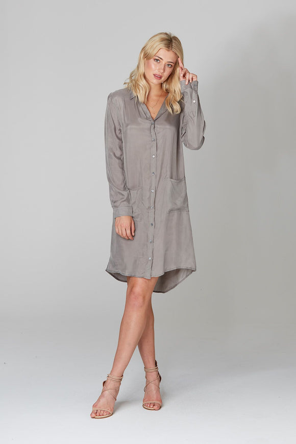 Shirt Maker Dress Slate