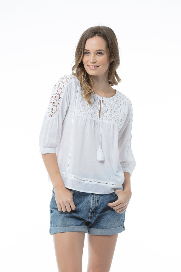 Aliya Top White