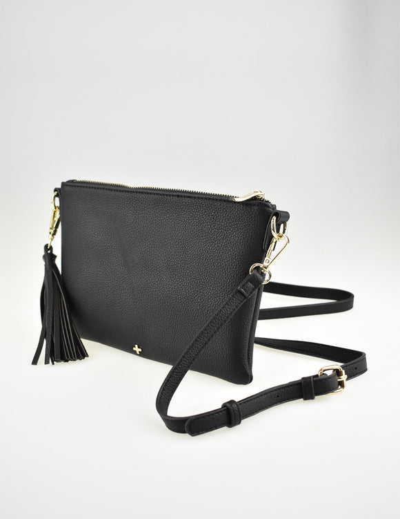 Kourtney Crossbody Bag Black Pebble