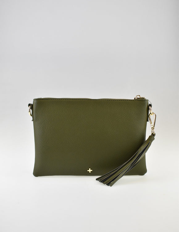 Kourtney Crossbody Bag Olive Pebble