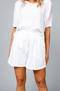 Khari Shorts White