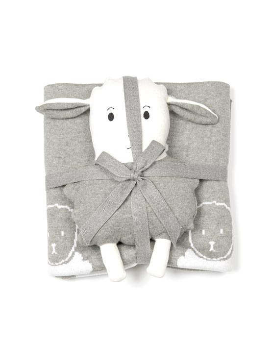 Lamb Blanket Gift Set