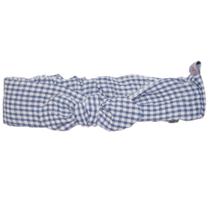 Girls Headscarf Navy Gingham