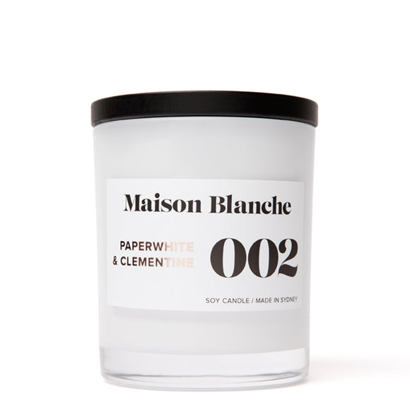 Maison Blanche Large Candle Paperwhite & Clementine