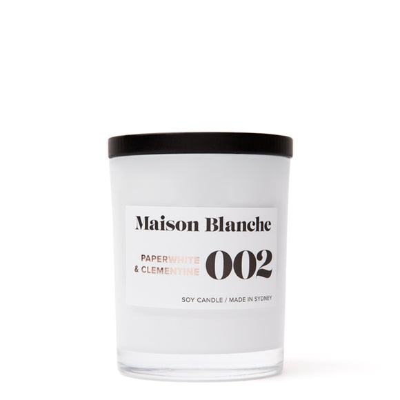 Maison Blanche Medium Candle Paperwhite & Clementine