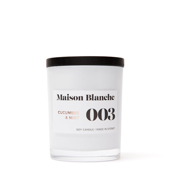 Maison Blanche Medium Candle Cucumber & Mint