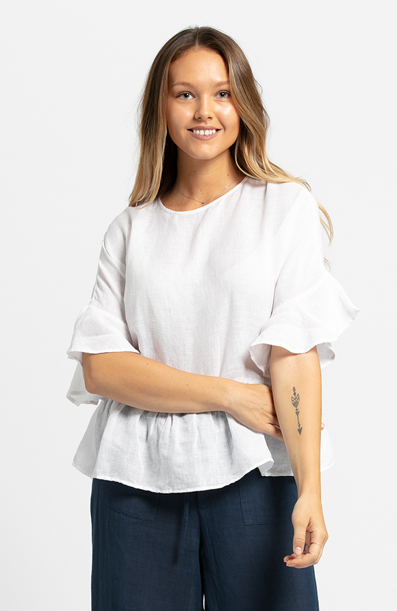 Mona Top White