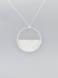 Scratched Half Full Pendant Necklace