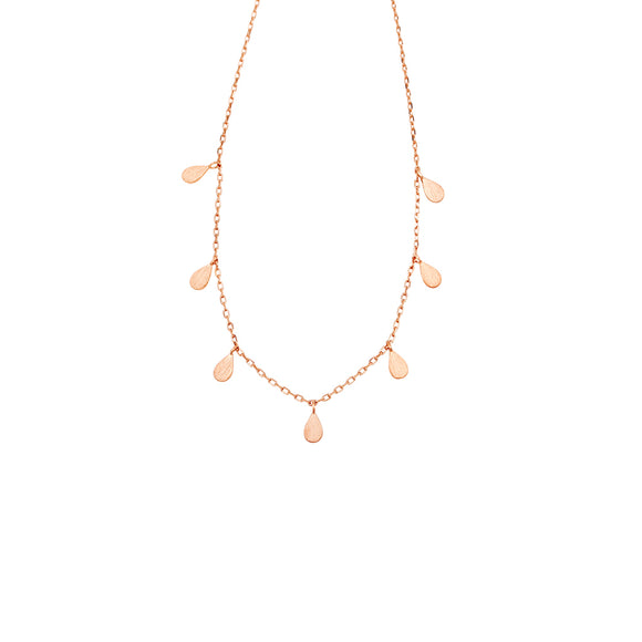 Teardrop Necklace Rose