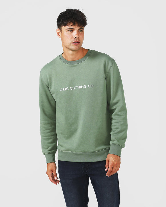Fleece Logo Crew Green