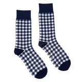 Socks Navy Gingham