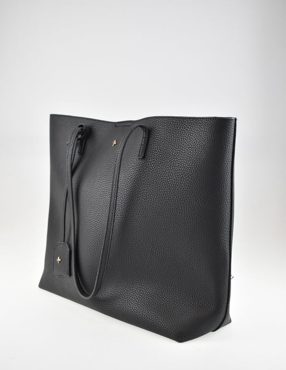 Saint Tote Bag Black Pebble