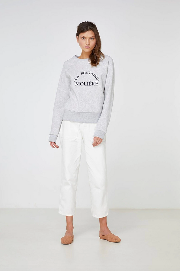 La Fontaine Moliere Sweater Grey Marle