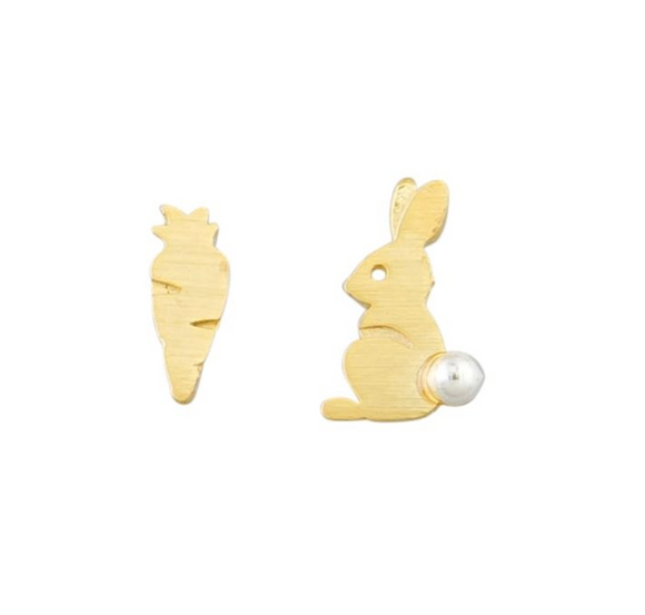 Gold Peta Bunny Earrings