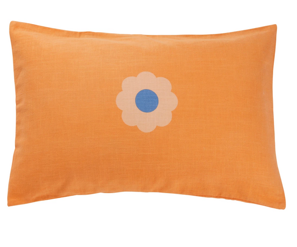Hana Flower Pillowcase - Melon