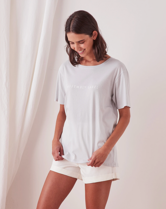 Logo Cotton Crew Tee Womens Seamist