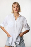 The Linen Boyfriend Shirt White