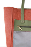 Autumn Large Leather Tote Olive