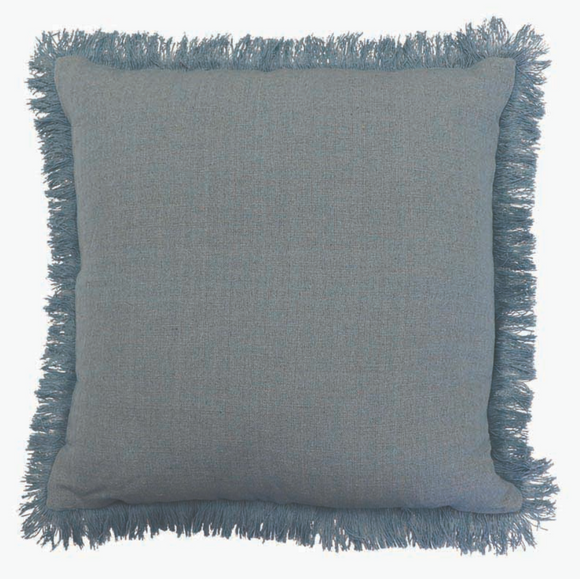 Barwon Light Blue Linen Cushion 50cm