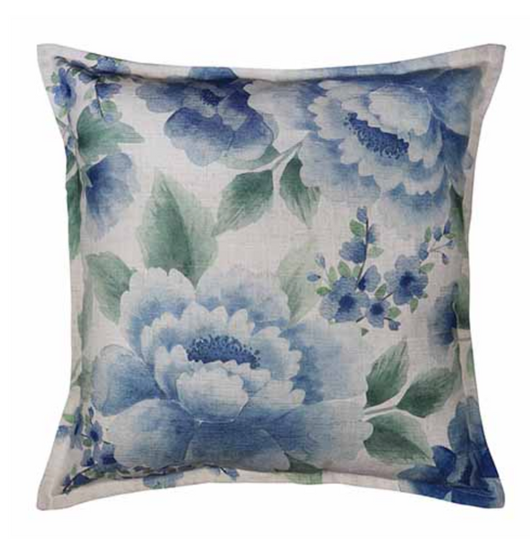 Camilla Blue/ Green Cushion 50cm