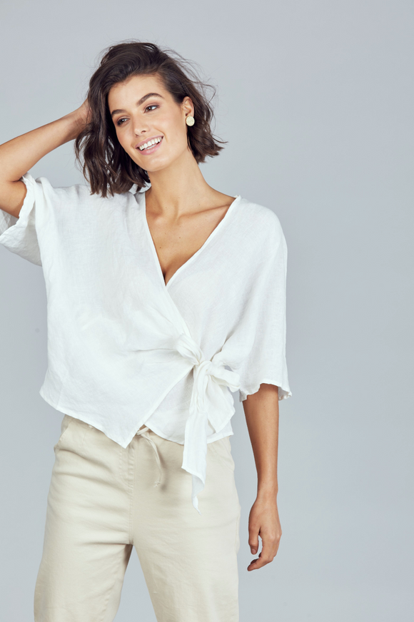 Bergman Wrap Top White