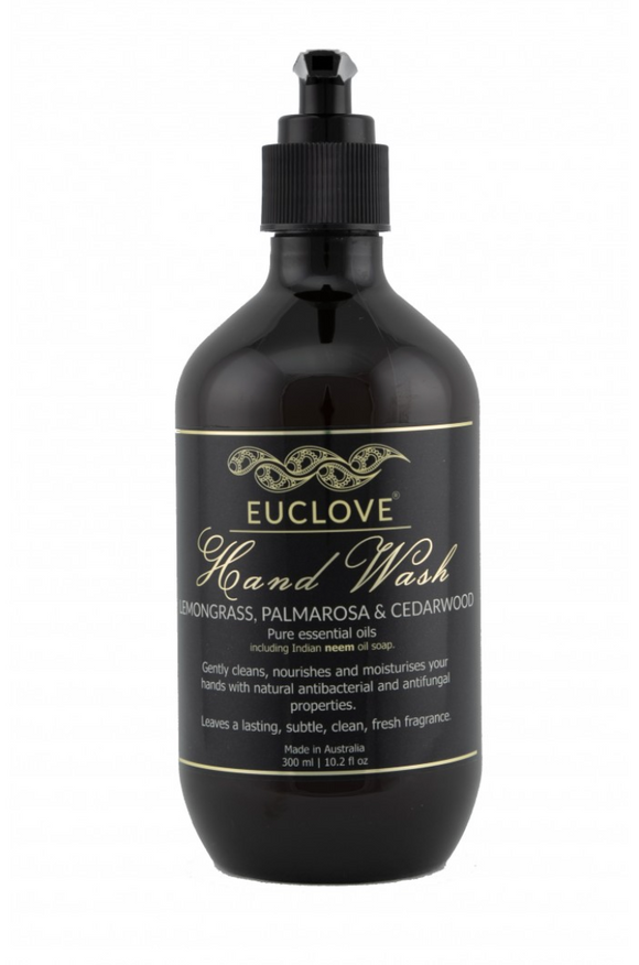 Euclove Hand Wash Lemongrass, Palmarosa & Cedarwood 300ml