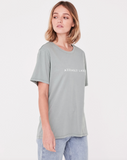 Logo Cotton Crew Tee Womens Mineral Green