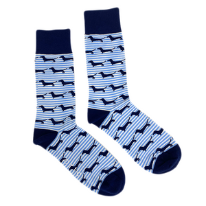 Socks Blue Stripe Dachies