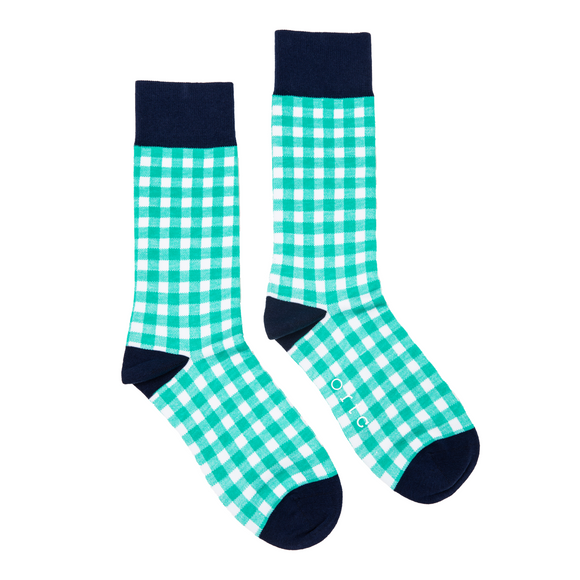 Socks Green Gingham