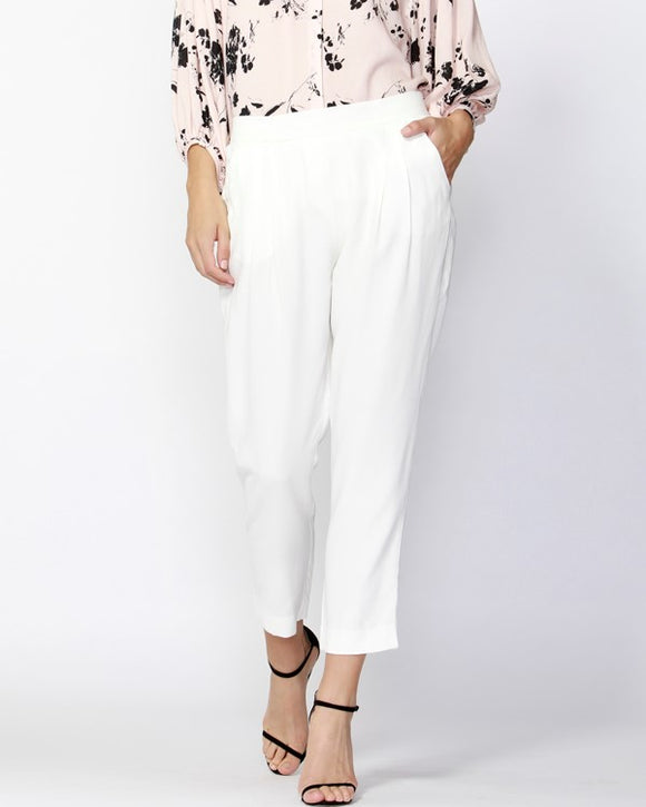 Notting Hill Pintuck Pants Pearl