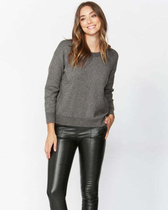 Shimmer Down Jumper Charcoal