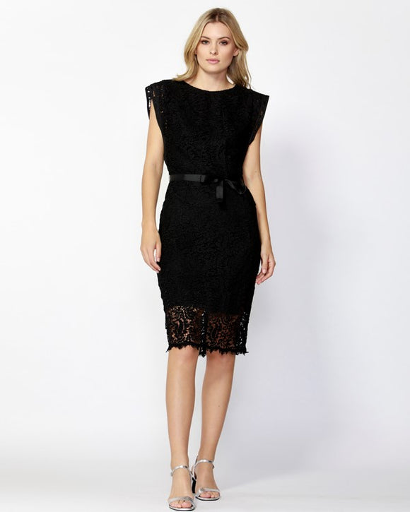 Isabella Lace Dress Black