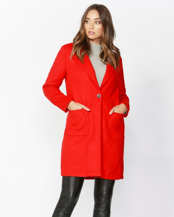 Pop Art Coat Apple Red