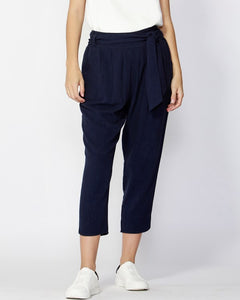 Summer Lovin Tie Waist Pants French Navy