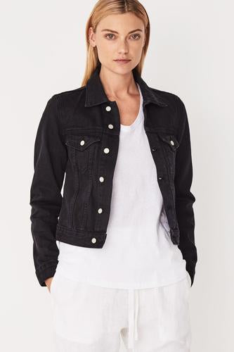 Femme Denim Jacket Faded Black