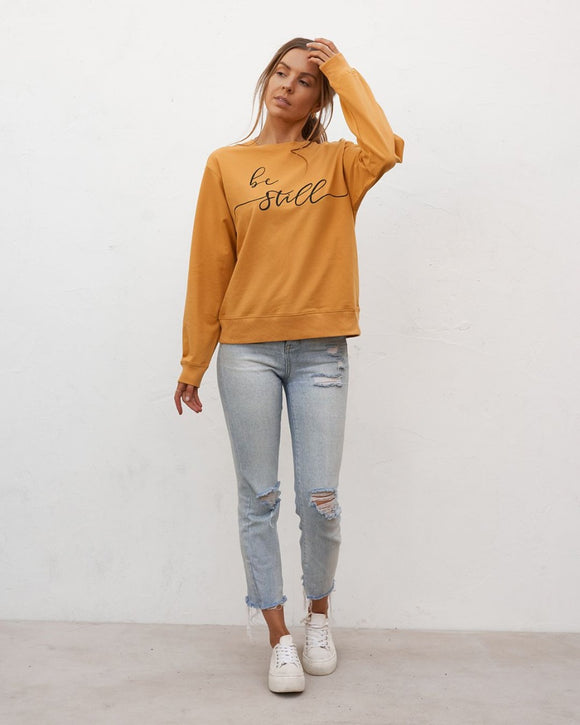 Be Still Sweater Mustard