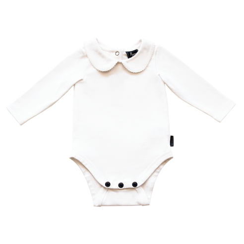 Bowhill Luxe Organic Onesie Long Sleeve White
