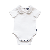 Bowhill Luxe Organic Onesie Short Sleeve White