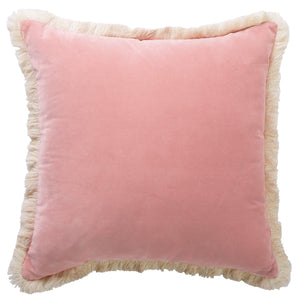 Clover Fringe Blush Cushion 50x50